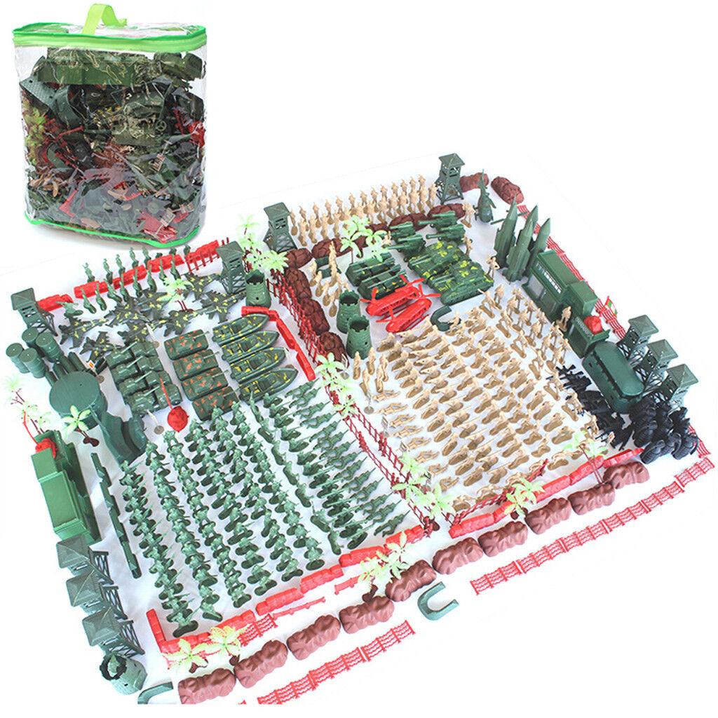520pcs armébas WWWII spelaset 5cm Armé Män Action Figurer och accessoarer
