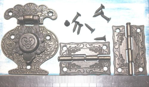 Hinges Jewelry Gift Box Latch Hasp Wood Wine Chest Catch Clasp Hook