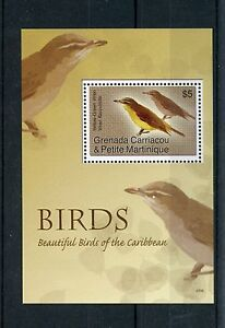 Grenadines-Grenade-2007-neuf-sans-charniere-beaux-oiseaux-de-Caraibes-1v-s-s-iii-Vireo