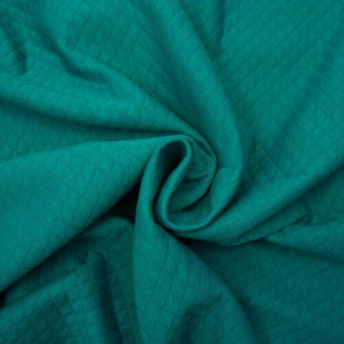 Quilted Soft Cotton Jersey Sweatshirt Rich Peacock 23 Fabric Dressmaking Fas