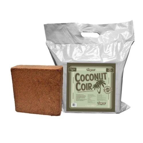11 lb Coconut Coir Block Soilless Media Brick Organic Outdoor Gardening Fiber