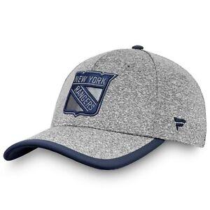 New-York-Rangers-Fanatics-Branded-Versalux-Marled-Tech-Flex-Hat-Gray