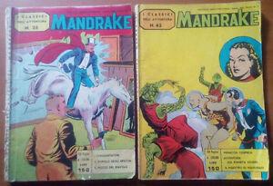Mandrake-35-e-45-I-classici-dell-039-avventura-1963-ottimi