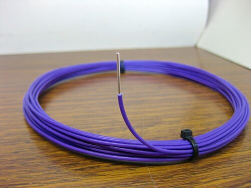 10 feet 18 AWG Silver Plated PTFE Wire Violet Solid 1 Strand made in USA SPC