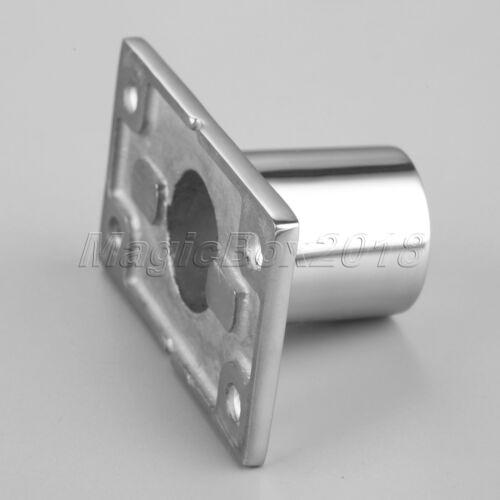 """1x Yachting Marine Stainless 90° Hand Rail Handrail Fitting 1/"""" Rectangular Base"""