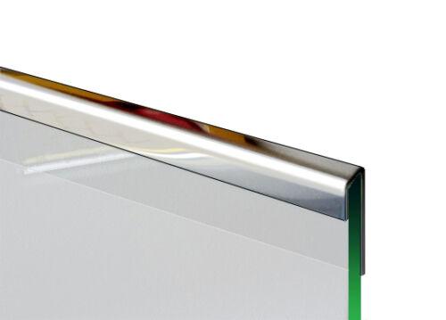 Set 2-teilig Glashalter Glasschiene  Einfassprofil für 8 mm Glas 1,0mm 1.4301.
