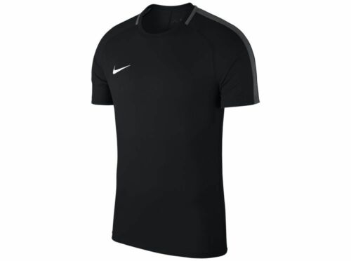 Nike Mens Adult Academy 18 Short Sleeve Football Training T-shirt Top Black Grey