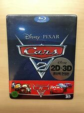 Disney Pixar Cars 2 Blu-Ray 3D/2D Steelbook Korea