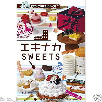 ❤  Re-ment Miniature Chocolate Ekinaka Biscuit Sweets Cake Shop ❤ Set Of 8
