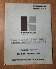 Krause Flex Wing Disc Harrow Models 900 Thru 908 Catalog 1j 3204 M3