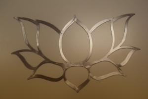 7d458a71a6 Lotus flower wall art, hand drawn & laser cut from metal | eBay