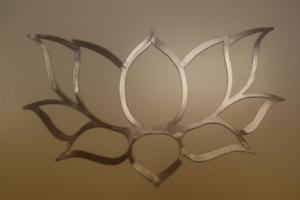 hand drawn /& laser cut from metal Lotus flower wall art