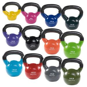 Body-Solid Vinyl Dipped Kettlebells - Color Coded KBV for ...