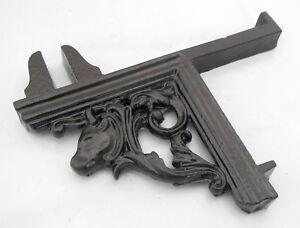 Asian Antiques Listón De Ganchos Carnicería Soporte Pared Wurst Gusswinkel Metal Fleischer Superior Materials Antiques