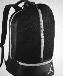 c20d6d8e11fea1 Nike Air Jordan All Net Retro Backpack Black 3m Silver Red Laptop