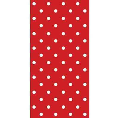 16 SNACK Paper Napkins RED Polka Dots Spots Party Birthdays 33 x33cm 1/8 Folded