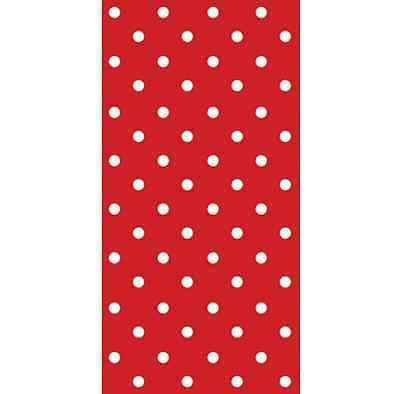 16 SNACK Paper Napkins RED Polka Dots Spots Party Birthdays 33 x33cm 1/8 Folded