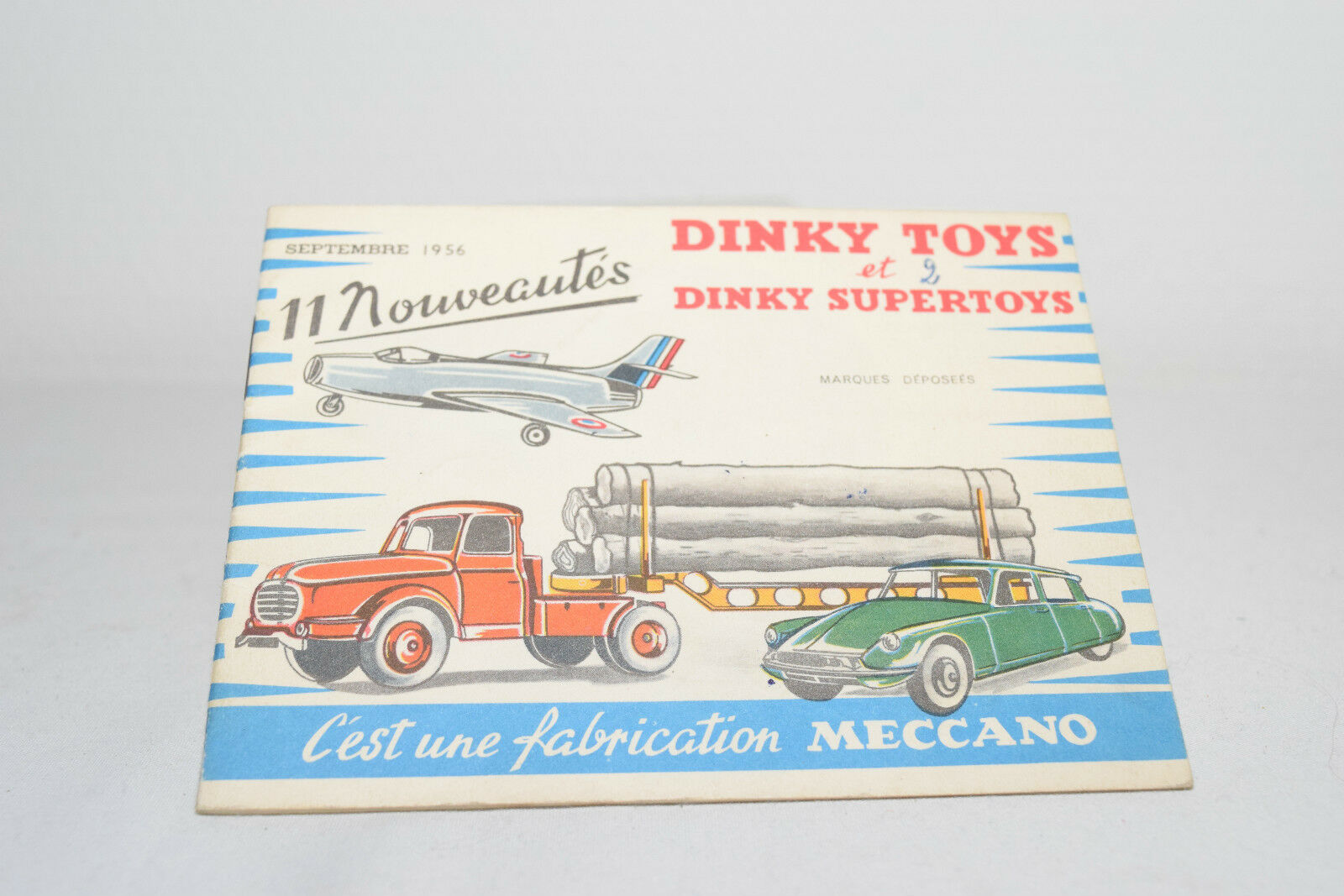DINKY TOYS CATALOGUE CATALOG SEPTEMBRE 1956 FRENCH EXCELLENT CONDITION
