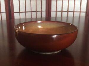 4-Sango-Nova-Brown-Stoneware-6-5-034-Diameter-Dinner-Replacement-Bowl-Style-4933