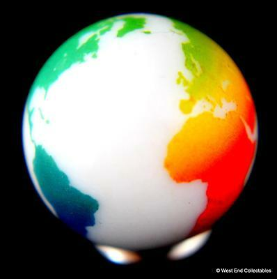 Cosmic World Planet Gaea Terra 22mm Detailed Solid Glass Earth Globe Marble