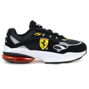PUMA Men's Scuderia Ferrari Cell Venom Shoes Black/Rosso Corsa 37033802 NEW!