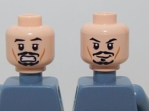 Lego Minifigure Head Pirates of The Caribbean Captain Jack Sparrow H36