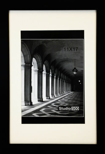 STUDIO 500 6-PACK~11x17-inch Black Wide Picture Frames