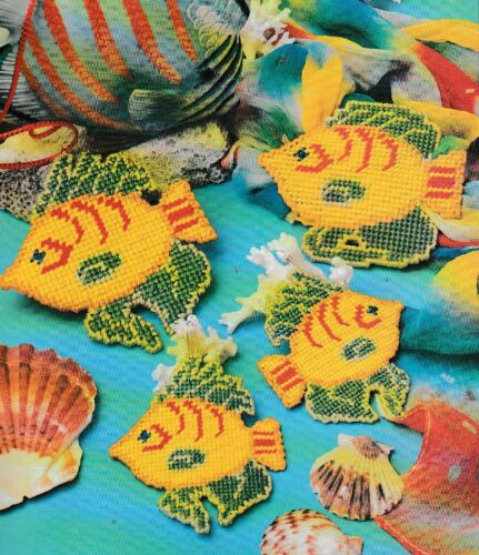 Plastic Canvas Pattern ONLY Tropical Fish Jewelry Set-Earrings,Necklace /& Belt