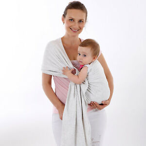 Details About 100 Organic Cotton Baby Wrap Sling Carrier Ring 0 55x2 1 Meters Infant Toddler
