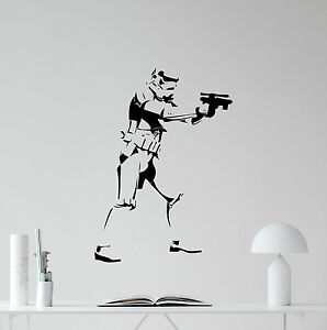 Image Is Loading Stormtrooper Star Wars Wall Decal Movie Vinyl Sticker