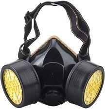 Gas Mask Painting Spraying Chemical Respirator Dual Filter Cartridge Dyi Punk