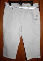 Liz & Co Capris + Belt Size 12p White