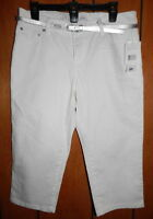 Liz & Co Capris + Belt Size 12p White