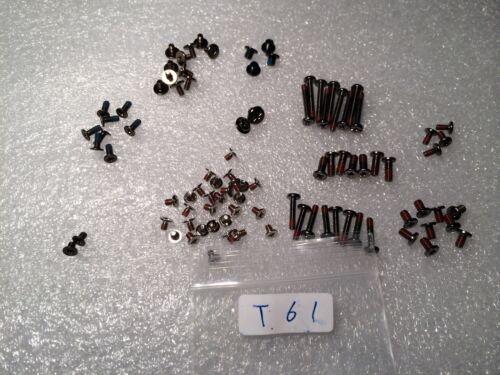 IBM Lenovo thinkpad T61  complete screws set for one Laptop assembly.