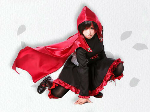 Details about  /Anime RWBY Crescent Ruby Rose Cosplay Costume Clothing Red Dress Outfit Custom