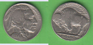 5 Cents 1936 without mintmark Buffalo Nickel stampsdealer