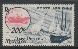 St-Pierre-amp-Miquelon-1947-200f-Blue-amp-Red-Air-stamp-MNH-SG-384