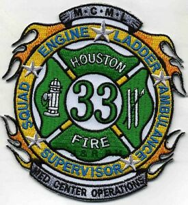 "Houston Station-17 /""Second Ward/"" fire patch 4.5/"" x 4/"" size Texas"