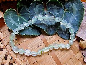 147-Bracelet prehnite perles 6/10mm-reiki-C<wbr/>hakra