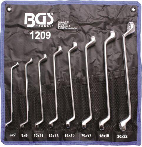 Doppelringschlüssel-Satz 16 Größen 6x7-8x9-10x11-12x13-14x15-16x17-18x19-20x22mm