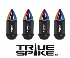 "32 VMS 70MM 9/16"" FORGED STEEL EXTENDED LUG NUTS W/ NEO CHROME BULLET SPIKES"