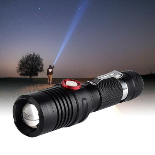 USB Charging Zoomable Lantern   Powerful LED Flashlight Waterproof Torch  BE