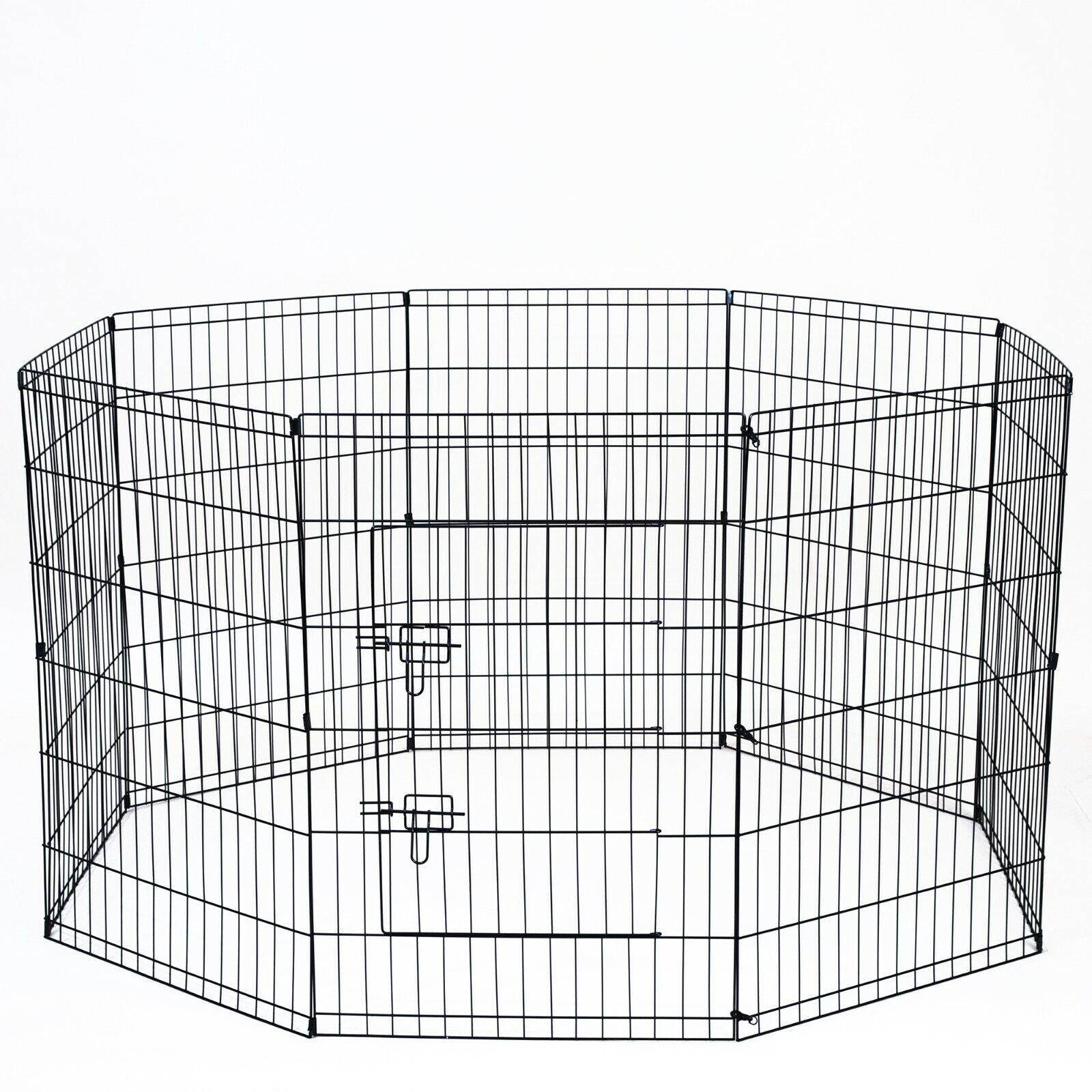 "36"" Tall Wire Fence Pet Dog Cat Folding Exercise Yard 8 Pane"