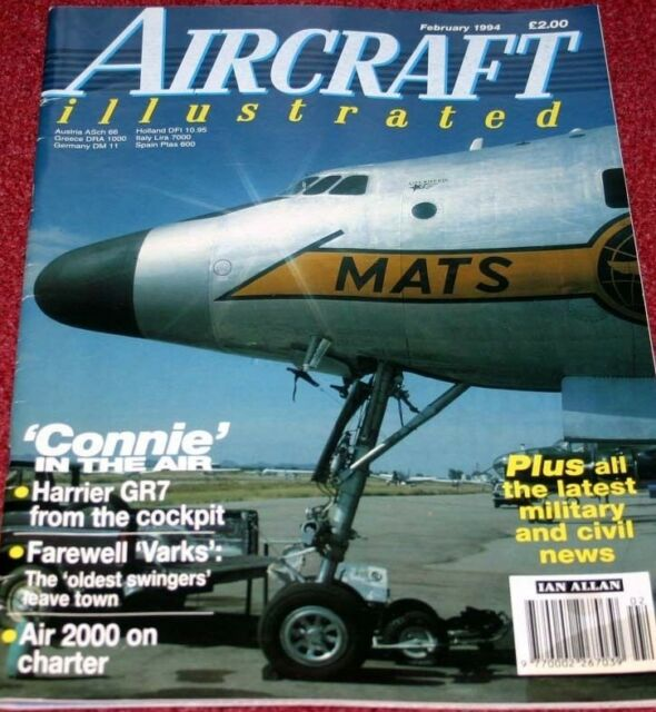 Aircraft Illustrated Magazine 1994 February Harrier,20th TFW F-111,Constellation