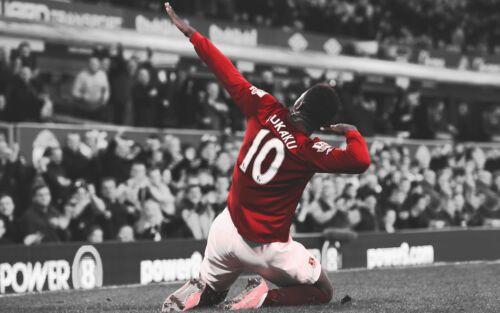 Romelu Lukaku Canvas Pictures Manchester United Striker Football Poster