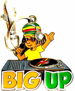 Jamaican-034-BIG-UP-034-Collectible-Metal-Key-chain-iDRIN-Only-sold-by-this-seller