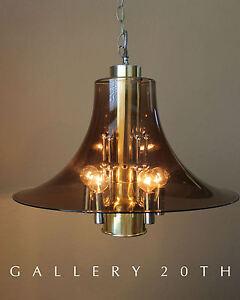 MID CENTURY MODERN ATOMIC CHANDELIER! LAMP BRASS CHROME PANTON SPACE AGE 60S VTG