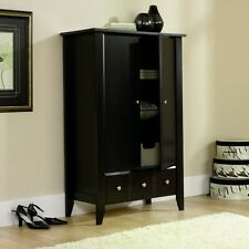 Attractive ARMOIRE Wardrobe Clothing Storage Closet Wood Bedroom Furniture Cabinet New