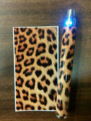 Battery Sticker Skins Fits eGo/Vision/Itaste Clk/Other Vape Mod Wraps -LEOPARD