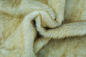 LUXURY-FAUX-MINK-FUR-HONEY-BLONDE-TONING-EXTRA-WIDE-160-cm-MADE-IN-ITALY-D264